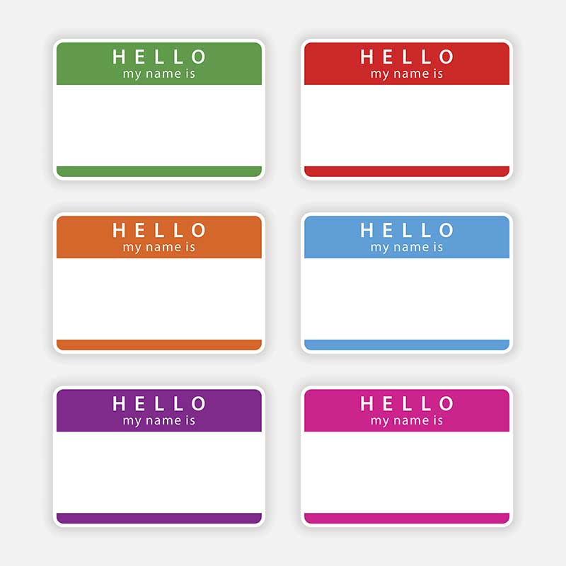 Adhesive Name Tags